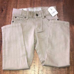Boys Crazy 8 khaki color jeans size 5.